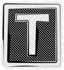 Polka Dot Font LETTER T