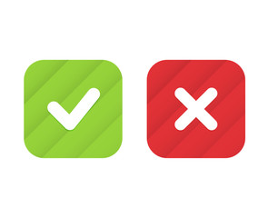 Check marks trend icons. Vector elements