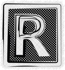 Polka Dot Font LETTER R