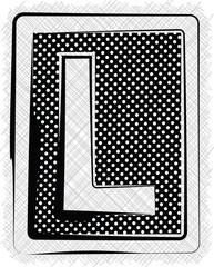 Polka Dot Font LETTER L