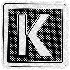 Polka Dot Font LETTER K