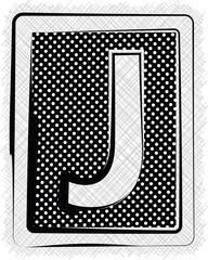Polka Dot Font LETTER J