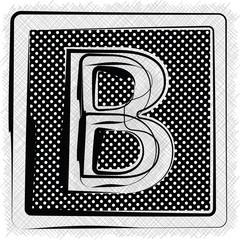 Polka Dot Font LETTER B