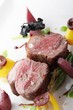 lamb fillet plated meal
