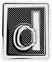 Polka Dot Font LETTER d
