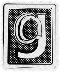 Polka Dot Font LETTER g