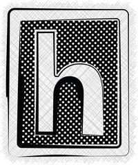 Polka Dot Font LETTER h