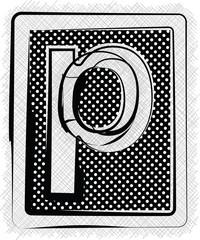 Polka Dot Font LETTER p