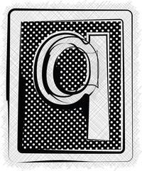 Polka Dot Font LETTER q