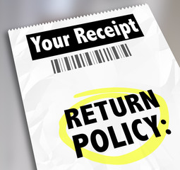 Return Policy Customer Purchase Receipt Store Shopping Exchange