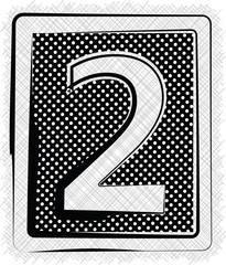Polka Dot Font NUMBER 2