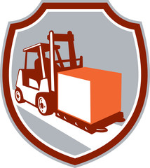 Forklift Truck Box Shield Retro