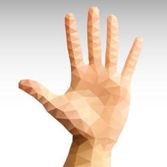 Hand Abstract polygonal
