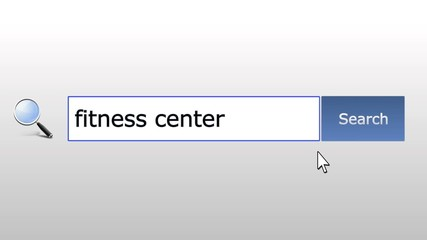 Fitness center - graphics browser search query, web page