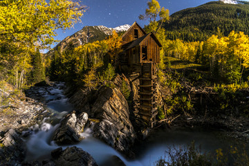 Crystal Mill Bright Starry Night Gunnison Colorado