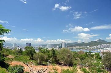 China Hainan island, city of Sanya, aerial view