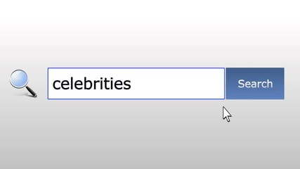 Celebrities - graphics browser search query, web page