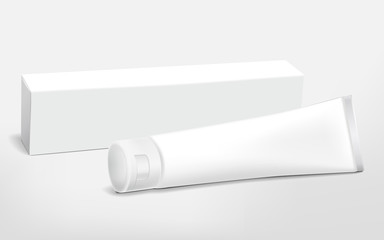 blank tube and packaging set