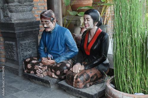 Foto op Plexiglas Indonesië Javanese traditional Cloths