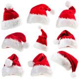 Set of red Santa Claus hats - 73395023