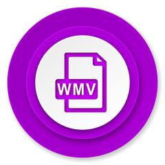 wmv file icon, violet button