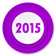 new year 2015 icon, violet button, new years symbol