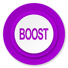 boost icon, violet button