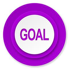 goal icon, violet button