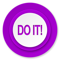 do it icon, violet button