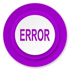 error icon, violet button