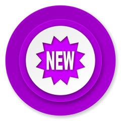 new icon, violet button