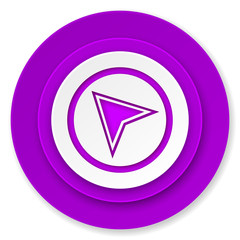 navigation icon, violet button