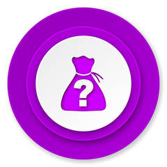 riddle icon, violet button