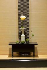 Rose in vase japanese style