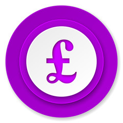 pound icon, violet button