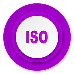 iso icon, violet button