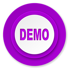 demo icon, violet button