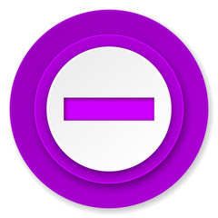 minus icon, violet button