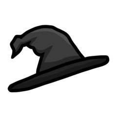Witch hat isolated illustration