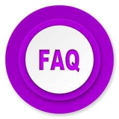 faq icon, violet button