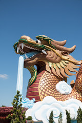 Dragon shrine in Suphan Buri Province