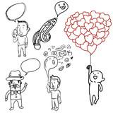 Bubble Doodle art poster