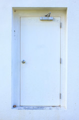 White door - Stock Image
