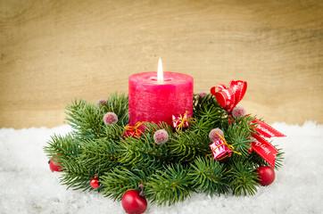 festliches adventsgesteck