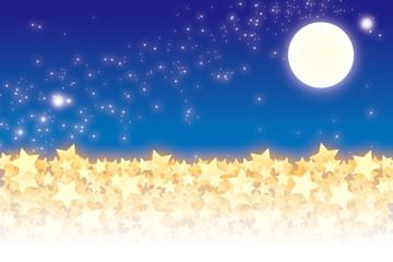 背景素材壁紙(積もった星)