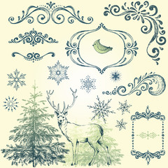 Ornate Winter Christmas Set