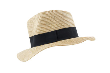 Side view panama hat isolated