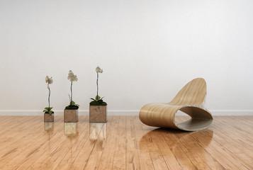 Stylish contemporary living room interior