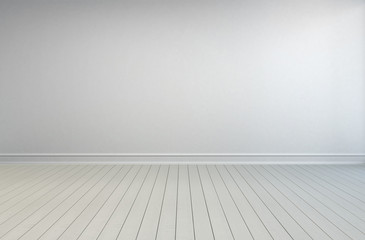 Simple empty white room interior