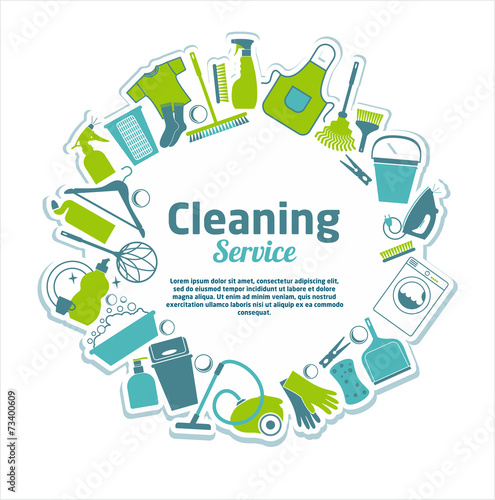 Cleaning service illustration. - 73400609